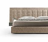 Современная двуспальная кровать TONIGHT с широким и мягким изголовьем, фабрика Eko Divani (Италия), фото 2