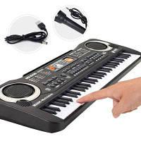 Многофункциональный 61 клавиш Клавиатура Электронный орган с микрофоном Музыкальное моделирование Фортепиано Детские игрушки Чёрный