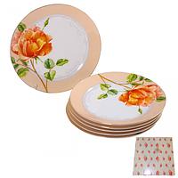 30878 Набор 6 дес. тарелок Китайская роза