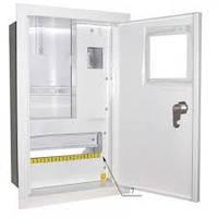 Шкаф монтажный распределительный внутренней установки с замком под 1Ф  счетчик Лоза ШМР-1Ф-10В УЗО