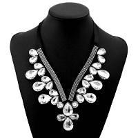 Женщины Девушки Алмазные Крылья Кружева Ожерелье Модные Ювелирные Воротники Короткие Колье Белый