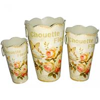555-032-1 Декоративная металлическая ваза 17*28см Чайная роза