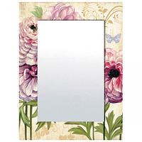 740-003 Зеркало с рамкой Цветы 80х60х4,5 см