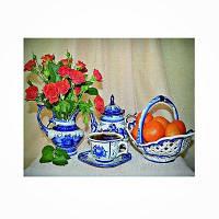 Naiyue 9809 Цветы и фрукты Print Draw Алмазный рисунок Цветной