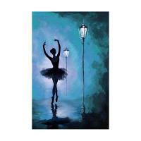Naiyue 9008 Dancing Girl Print Draw Алмазный рисунок Цветной