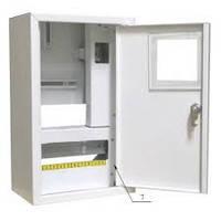 Шкаф монтажный распределительный наружной установки с замком под 1Ф  счетчик Лоза ШМР-1Ф-10Н УЗО