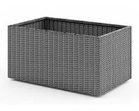 Цветочная корзина RUBIC 80 см (Серый)