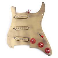 Предварительно заряженный SSS Brone Pickguard Alnico V Пикапы для Strat Guitar Бронзовый