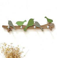 Стойка для настенной декорации Уникальная деревянная стойка для хранения птиц Зелёный