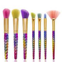 Цвет волос Прическа для ульи макияжа Кисть 7PCS 17cм x 3cм x 2.5cм