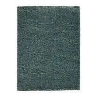 VINDUM, ковер с длинным сине-зеленый