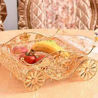 Изысканная металлическая полость с фруктовым подносом, корзина для фруктов, бытовая техникаSGL01-4 Чистый Цвет