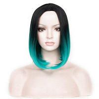 Центробежный пробоотборник для наружного применения Ombre Straight Bob Synthetic Wig Чёрный и зелёный