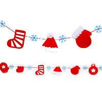 Новогоднее украшение поставок Новогоднее украшение висит флаг нетканые Веселый флаг Рождества тянуть Перчатки