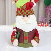 Новогоднее украшение поставок Творческая рождественская льняная конфета банку Старый Мужчина