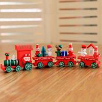 Рождественские украшения Рождественский деревянный поезд детский фестиваль детского сада Рождественские подарки Рождественские украшения подарки