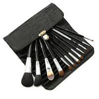 12PCS Personal Daily Make-Up Brush с целым набором порошковой тени для век Чёрный