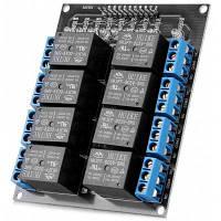 AC / DC 8-канальная плата расширения релейного модуля Arduino Совместимость 250 В постоянного тока / 30 В постоянного тока / 10 А на канал