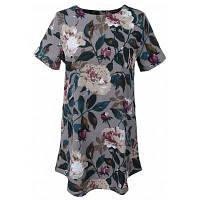 Горячая продажа Летний новый стиль с коротким рукавом Блузка Элегантная женская блузка Цветочная печать Повседневный Длинные топы