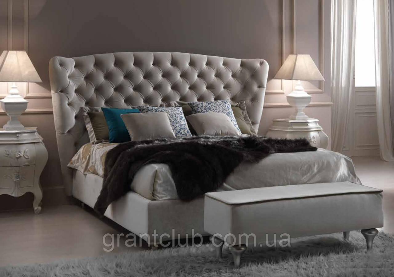 мягкая двуспальная кровать с простеганным изголовьем Vanity фабрика