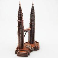 Башни-близнецы Петронас Модель Железные украшения размер:18 x 11 x 11cм