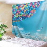 Sky Ballons Печать Гобелен Настенный декор ширина59дюймов*длина51дюйм