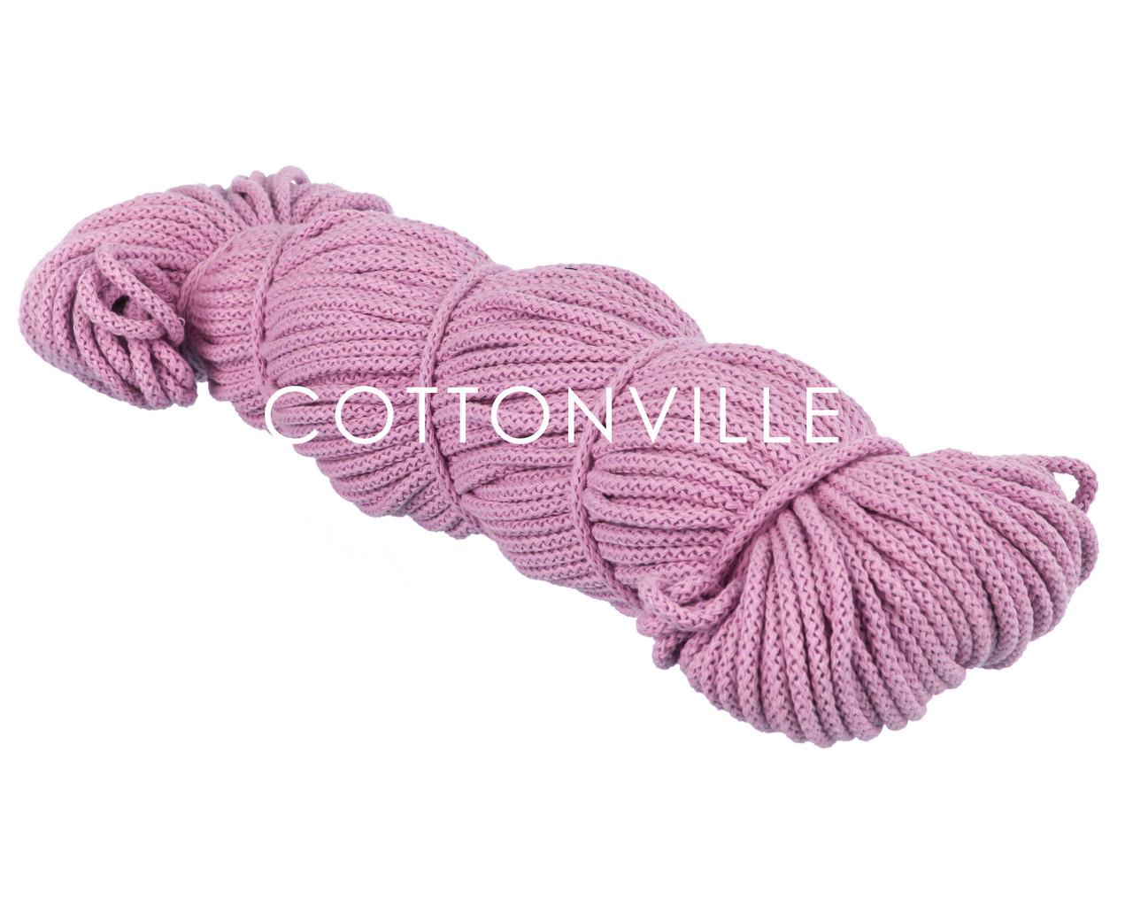 Хлопковый шнур с сердцевиной лиловый (5 мм)