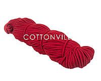 Хлопковый шнур без сердцевины красный (5,5 мм), фото 1