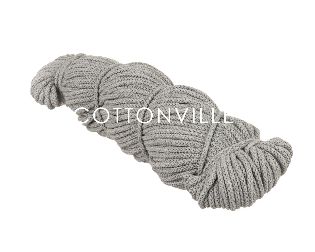 Хлопковый шнур с сердцевиной светло-серый (5 мм)