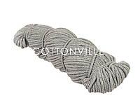 Хлопковый шнур с сердцевиной светло-серый (5 мм), фото 1