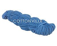 Хлопковый шнур с сердцевиной темно-голубой (5 мм), фото 1
