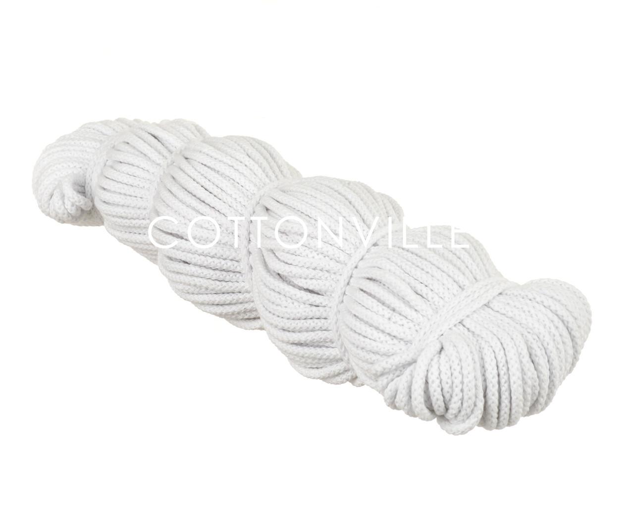 Хлопковый шнур без сердцевины белый (5,5 мм)