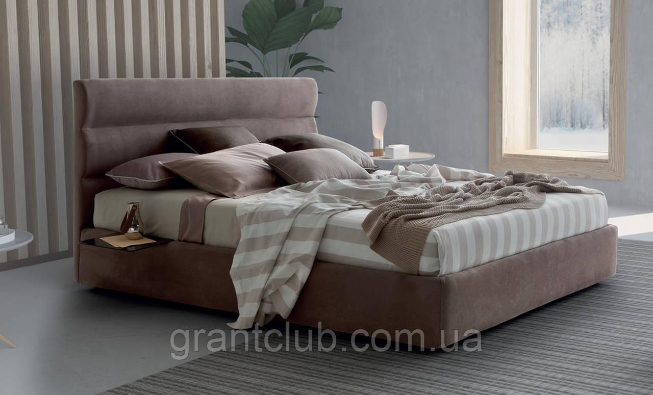 Современная двуспальная кровать SIR с мягким изголовьем фабрика LeComfort (Италия)