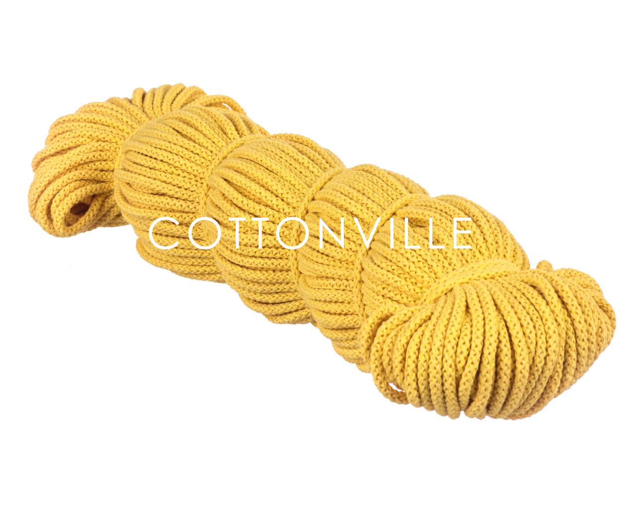 Хлопковый шнур без сердцевины желтый (5,5 мм)