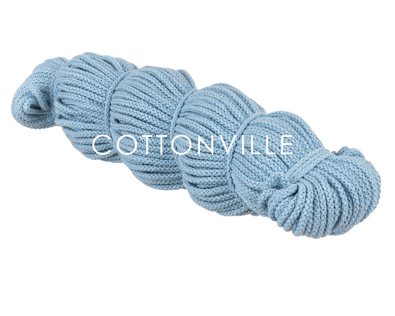 Хлопковый шнур без сердцевины небесно-голубой (5,5 мм)