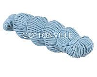 Хлопковый шнур без сердцевины небесно-голубой (5 мм), фото 1