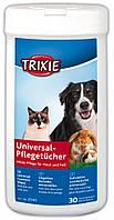 Салфетки Trixie Cosmetic Wipes для собак универсальные с алоэ вера, 30 шт