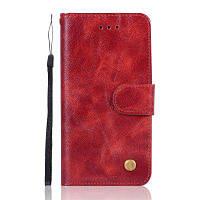 Экстравагантная мода Флип кожаный чехол PU Кошелек Защитные чехлы для iphone 6 / 6S Plus Чехлы для телефона Сумка для телефона с подставкой Красное