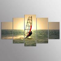 YSDAFEN 5 Панели Морской мир Серфинг Пейзаж Холст Печать Современная картина на стенах для декора комнаты 30x40cмx2+30x60cмx2+30x80cмx1