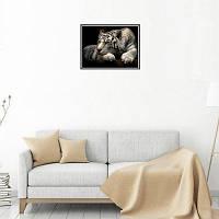 Naiyue S034 Darling Tiger Print Draw Алмазный рисунок черно-белый