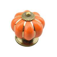 Урожай Керамическая дверная ручка Шкаф Шкаф Шкаф Шкаф Кухонная ручка Оранжевый