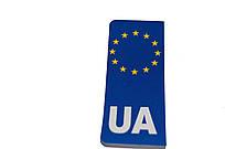 """Наклейка на номерной знак """"Евро UA"""""""