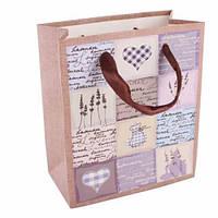 Пакет подарочный Любовные записки с атласными ручками