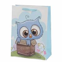 Пакет подарочный Совушка в коробке