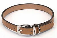 Ошейник Coastal Circle-T Leather Town для собак кожаный, 50 см