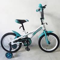 """Детский двухколесный велосипед Tilly Flash 16"""", цвет Turquoise"""