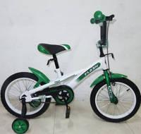 """Детский двухколесный велосипед Tilly Flash 16"""", цвет зеленый"""