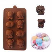 WS 0231 Baking Tool DIY Силиконовое Шоколадное Мыло для рук Ice Bar Mold Цвет кофе мокко