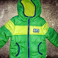 Куртка для мальчика 74 см ростом демисезонная на синтапоне с флисовой подкладкой