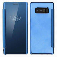 Роскошное зеркало с зеркалом заднего вида с флип-смартфоном для Samsung Galaxy Note 8 Небесно-голубой цвет